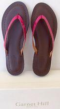 Garnet Hill Eloisa Italian Patent Leather Thong Spa Slip-on Sandals Berry Size 7