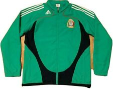 2007 adidas Mexico Soccer National Team Full Zip Green Track Jacket Men's Large