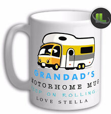Personalised Grandad Motorhome Mug Campervan Mug. Customise with your own text.