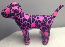 VICTORIA'S SECRET PINK POLKA DOT PURPLE LEOPARD PLUSH DOG NEW