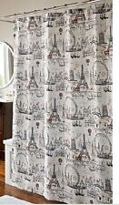 "Shower Curtain - ""Ooh La La"" - Paris Design 100% polyester fabric- 72"" x 72"""