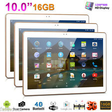 "10,1"" Phablette 3G+Wifi 16Go Tablette Tactile PC Android 5.1 Quad Core 2xSIM/CAM"