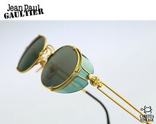Jean Paul Gaultier 58-6105, 90s Vintage side shields oval sunglasses - NOS
