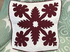 2 Hawaiian quilt handmade 100% hand quilted/appliqued cushions pillow covers