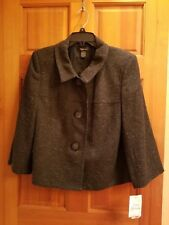 NWT WOMENS SHORT TWEED BLAZER JACKET SIZE 16 BY STYLE&CO