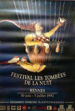 AFFICHE FESTIVAL LES TOMBEES DE LA NUIT // RENNES 30 JUIN - 5 JUILLET 1997