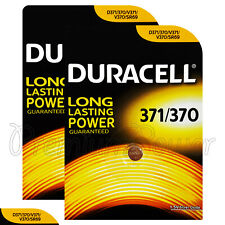 2 x Duracell Silver Oxide 371 370 1.5V batteries watch DL371 V371 V370 SR69
