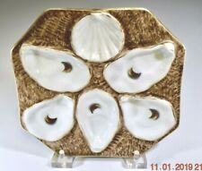 Rare Oyster Plate Antique 8 sided Octagon German Oyster Plate, op504