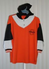 Gold's Gym Long Sleeve Shirt with Hood Orange XL