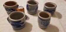5 German Cobalt Blue Salt Glazed Pottery Stoneware Westerwald          Lot4