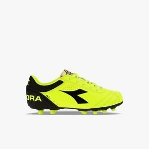 Diadora Ita3 MDPU Jr Yellow Black Kids Youth Soccer Cleats Boys Girls