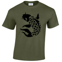 Carpa T-Shirt Uomo Pesca Pescatore Pesca Abbigliamento Koi Camo