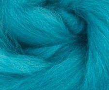 1Lb Cerulean Blue Corriedale dyed 27 mic Top Roving Wool Felting Spinning Fluff