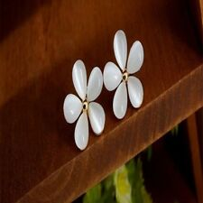 Korean Refinement Jewelry Opal Earring Ear Stud Earring Earrings Sakura Flower
