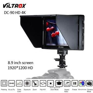 VILTROX DC-90HD 8.9inch IPS Screen Full HD Camera HDMI Monitor+Sunshade for DSLR