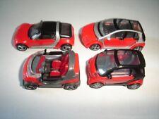RED SMARTS 2006 MODEL CARS SET 1:87 H0 - KINDER SURPRISE PLASTIC MINIATURES