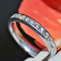 14k white gold comfort fit wedding band 0.80ct GVS1 diamond size 6.75 ring 3.3gr