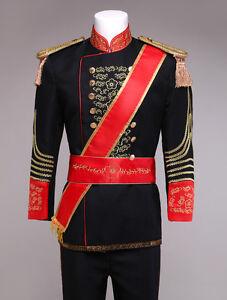 Royal Retro Men's Black victorian Vintage Prince Charming Costume Outfit Sets