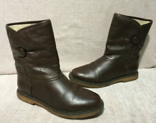 French Connection Brown Leather Ankle Boots UK 3.5