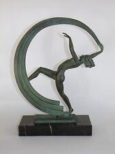 Figurine Art Deco - MAX LE VERRIER - BACCHANALE - années 30 - statue - JANLE