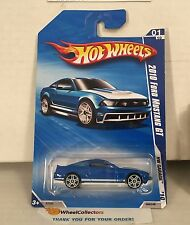 2010 Ford Mustang GT #69 * BLUE * 2010 Hot Wheels * D18