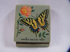 Vintage Matchbook Butterfly Tiger Swallowtail Ohio Blue Tip Matches 1957