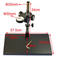 Dual-Arm Metal Boom Stereo Microscope Table Stand Holder Ring 50mm