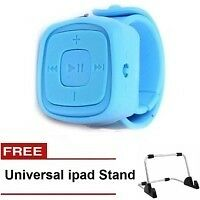 Keimav Quality MP3 Watch (Blue) with FREE Universal Ipad Stand