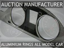 VW Passat B7 CC 2010-2014 Polished Aluminium Chrome Gauge Trim Rings 2pcs
