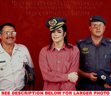 MICHAEL JACKSON 1991 in MILITARY HAT 1xRARE PHOTO