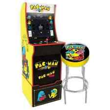 Arcade1Up Pac-Man Mini Arcade Game Cabinet with Riser, Stool & Light Up Marquee