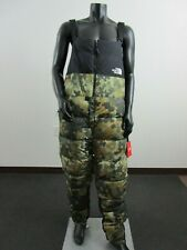 Mens North Face Nuptse 700-Down Insulated Warm Winter Sports Bibs Pants Camo