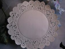 """25 pcs 5"""" INCH ROUND ROYAL FINE WHITE NORMANDY LACE PAPER DOILIES CARDS STAMPING"""
