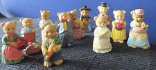 Lot of 11~Miniature TEDDY BEAR FAMILY FIGURINES