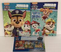 3 Nickelodeon Paw Patrol Coloring & Activity Books 3 Packs Of Crayons Kids Art