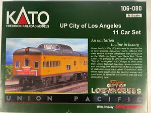 N Scale - Kato 176-080 Union Pacific City of Los Angeles (COLA) 11-Car Set N4504