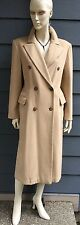 ESCADA Margaretha Ley Women's Long Coat Blazer Beige Wool Sz 38 Germany / Italy