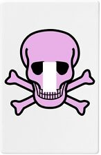Pink Skull Crossbones Single Toggle Wall Plate Decorative Switch Plate Cover