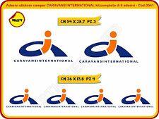 Adesivi stickers camper CARAVANS INTERNATIONAL kit completo di 6 adesivi Cod.41