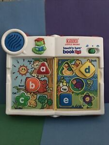 Rare Vintage Vtech Little Smart Touch And Turn Book
