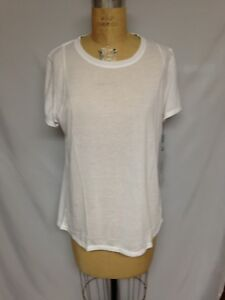Calvin Klein Short Sleeve Tee with Inset Shoulder Seams PF7T0227 White NWT XL