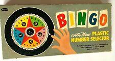 MID CENTURY MODERN WHITMAN BINGO GAME BOARD GAMES ROULETTE VINTAGE