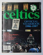 Boston Celtics NBA Official 1986-87 Yearbook
