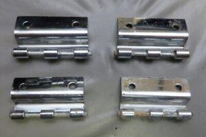 Set of 4 Porsche 356 356A 356B 356C Rear Pop Out 1/4 Vent Window Hinges w/ Pins