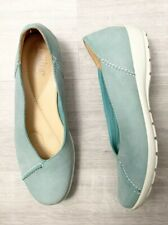 Hotter Comfort Concept Flat Shoes Natural Slim Size 6.5 Blue Casual