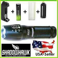 X800 SHADOWHAWK TACTICAL FLASHLIGHT LED + BATTERY + WALL CHARGER + AAA