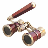 Super 3X25 Opera Glasses Binoculars Metal Body w Chain/Handle Optical Lens