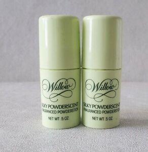 2 Avon Willow Silky Powderscent Fragranced Powder PowderStick Lot