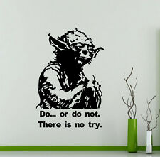 Star Wars Wall Decal Do Or Do Not Jedi Yoda Quote Vinyl Sticker Decor Mural 1sw