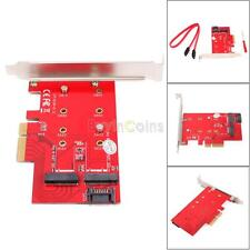 Simple 2 Port NGFF M.2 B + M Key SSD to PCI-E PCI Express 4X 4 Adapter Card BC